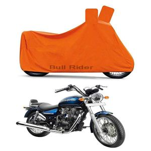 Bull Rider Two Wheeler Cover for Royal Enfield Thunderbird 350 (Orange)