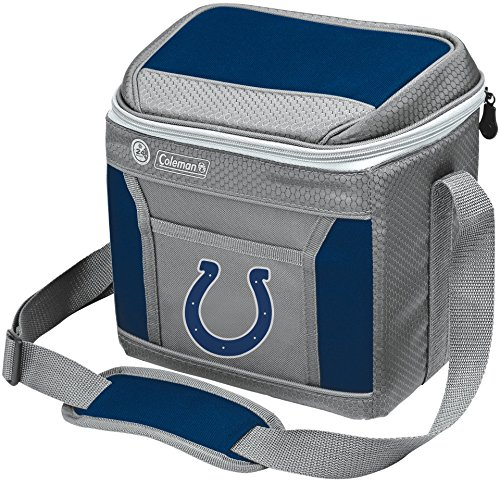 Coleman NFL Soft-Sided Insulated Cooler Bag, 9-Can Capacity with Ice, Indianapolis Colts