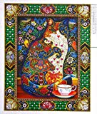 Diamond Painting Kits for Adults by Heartful Diamonds - Royal Family Cat - 40x50cm (16x20 in) - 5D Round Special Partial Drill Art - Birthday, Anniversary, Christmas Gift Home Living Bed Room Decor