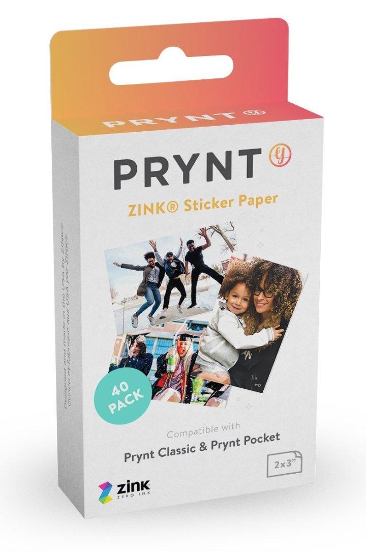 Prynt, 2x3 inch ZINK Sticker Paper - 40 pack