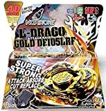 Noa Store L-Drago Gold 4D TOP Metal Fusion Fight Master + Launcher