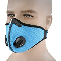 HotMall-US Protective face and Mouth,Unisex,Washable, Reusable Protective Breathable Anti Dust Fog Windproof Outdoor Sports Cycling Facial Mouth Protection Blue 1pc