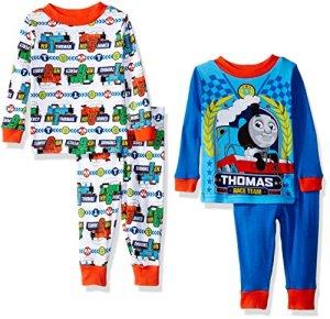 ed25ccf3a Nickelodeon Thomas The Train Boys' 4-Piece Pajama Set, Blue/White, 18 Months
