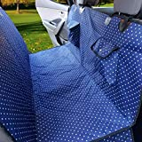 """✔USA Based Company ✔Back Seat Dog Hammock (Large 54"""" x 58"""") ✔Heavy-Duty 600D Polyester, Rugged & Tear Resistant ✔4 Layer Design: 600D Polyester, Cotton Padding, Nylon Backing & Non Slip Netting ✔Commercial Threading, Quilted Patter..."""