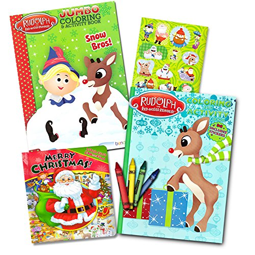 rudolph the red nose reindeer coloring books set - Books About Santa Claus 2