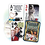 Flickback Media, Inc. 1969 Trivia Playing Cards: 50th Birthday or 50th