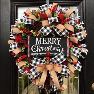 Wrth-Christmas-Buffalo-Check-Wreath-Christmas-Holiday-Festival-Window-Wall-Wreath