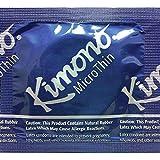 Kimono Microthin Premium Lubricated Ultra Thin Latex Condoms and Silver Pocket/Travel Case-24 Count