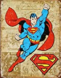 Superman Weathered Panels Tin Sign 13 x 16in