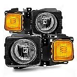 ACANII - For 2006-2010 Hummer H3 H3T Headlights Headlamps Aftermarket Driver + Passenger Side 06-10 Pair