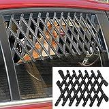 5starsuperdeals Dog Window Guard Gate Vent - Expandable Car Window Ventilation Safe Guard Grill (Regular, Black)