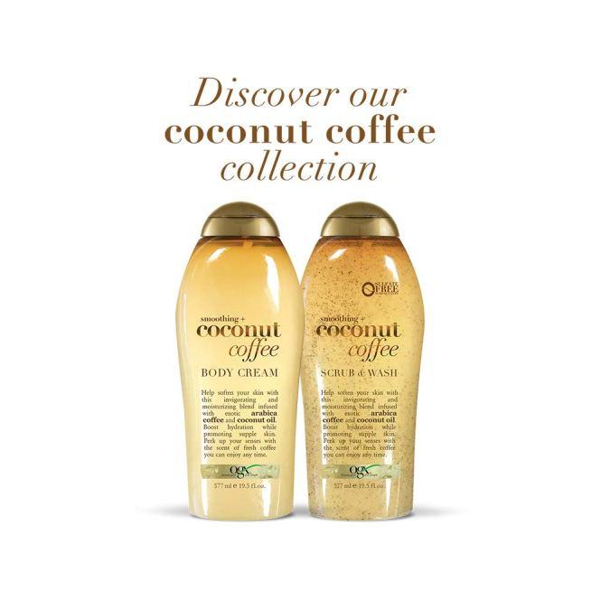 Amazon.com : OGX Coconut Coffee Scrub and Wash, 19.5oz : Beauty
