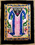 CORAL REEF CREATIONS Haitian Grand Bois Vodou or Voodoo Flag (Wall Tapestry)