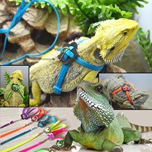 RZRZOO Adjustable Reptile Lizard Harness Leash Multi Color Light Soft Fashion Pet Small Animal,Random Color 8