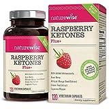 NatureWise Raspberry Ketones Plus   Advanced Weight Loss & Appetite Suppressant with Powerful Antioxidant Blend   Boosts Energy & Metabolism, Vegan, Gluten-Free   120 Veggie Capsules