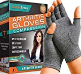 Comfy Brace Arthritis Hand Compression Gloves - Comfy Fit, Fingerless Design, Breathable & Moisture Wicking Fabric - Alleviate Rheumatoid Pains, Ease Muscle Tension, Relieve Carpal Tunnel Ache(Medium)