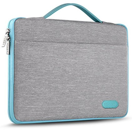 Hseok-Laptop-Sleeve-13-135-Inch-Case-Briefcase-Compatible-All-Model-of-133-Inch-MacBook-AirPro-XPS-13-Surface-Book-135-Spill-Resistant-Handbag-For-Most-Popular-13-135-Notebooks-Silver-Grey