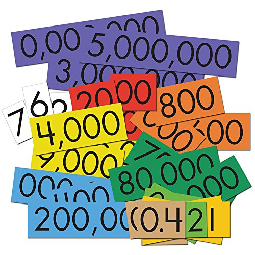 Essential Learning Products 10 Decimals to Whole Numbers Place Value Cards Set Each