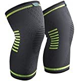 Sable Knee Brace Compression Sleeves 2 Piece FDA Approved, Support for Arthritis, ACL, Running, Biking, Basketball Sports, Joint Pain Relief, Meniscus Tear, Faster Injury Recovery, Small (14-17.5'')