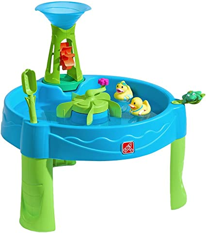 Amazon Com Step2 Duck Dive Water Table Kids Water Table With Water Tower 5 Pc Accessory Set Multicolor Basic Toys Games