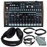 Arturia DrumBrute Analog Drum Machine and Accessory Bundle w/Stereo Headphones + Cables + Fibertique...