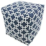 Product review for Majestic Home Goods Navy Blue Links Cube, Small