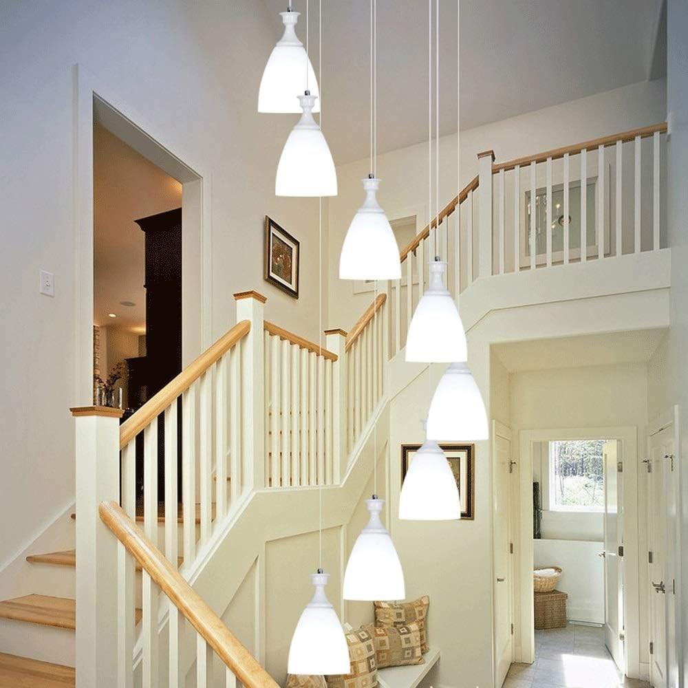 Amazon Com Duplex Stairs Chandelier Modern Long Chandelier Glass | Duplex Living Room With Stairs | Modern | Single Room | Duplex Step | Indoor | Balcony