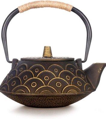 AHXF Fireplace Cast Iron tea Kettle