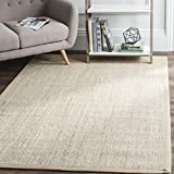 Safavieh NF143B-9 Natural Fiber Collection NF143B Marble and Linen Sisal Area (9' x 12') Rug,