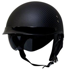 Voss 888CF Carbon Fiber DOT Half Helmet
