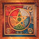 Wicca magic tablecloth Force 5 Lyrics - Magic Power Wiccan magic Small size 16x16 by Wizard Cloth