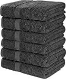 Utopia Towels Cotton Bath Towels, 6 Pack, (22 x 44 Inches), Pool Towels and Gym Towels, Light Grey