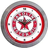 Neonetics Texaco Motor Oil Gasoline Neon Wall Clock, 15-Inch