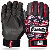 Franklin Sports MLB Digitek Baseball Batting Gloves - Gray/Red Digi - Adult X-Large
