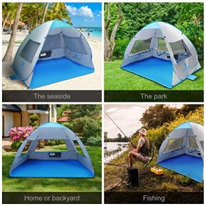SGODDE-Large-Pop-Up-Beach-Tent-2019-New-Anti-UV-Sun-Shelter-Tents-Portable-Automatic-Baby-Beach-Tent-Instant-Easy-Outdoor-Cabana-for-3-4-Persons-for-Family-Adults