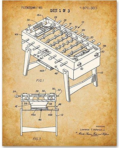 Foosball Patent Print