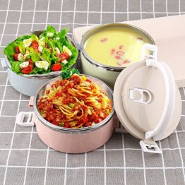 bf337a2909c7 Bento Lunch Box, XINGBAO 3-Layer Stainless Steel Food Containers with  Insulated Lunch Bag
