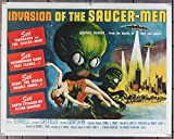 Invasion Of The Saucer-Men (1957) Original Half-Sheet Movie Poster 22x28 Science Fiction Masterpiece Poster with Art by Albert Kallis, GLORIA CASTILLO STEVE TERRELL CHARLES GORSHIN PAPER BACKED GOOD CONDITION THEATER USED Film directed by EDWARD L. CAHN