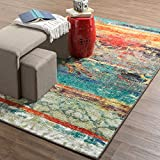 Mohawk Home Strata Eroded Distressed Abstract Printed Area Rug, 7'6x10', Multicolor