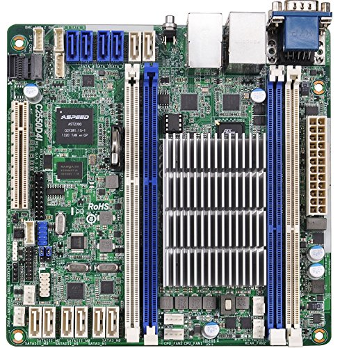 ASRock Rack Mini ITX DDR3 1333 Motherboards C2550D4I