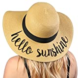 H-2017-HS Funky Junque Embroidered Sun Hat - Hello Sunshine