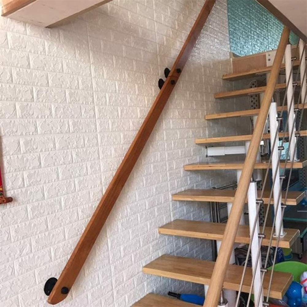 Amazon Com Handrail 30Cm 500Cm Non Slip Wooden Stair Railings | Wood Stair Railings Interior | Cable Stair Railing | Timeless | Before And After | Colonial | 2Nd Floor
