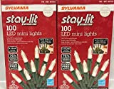 Sylvania Stay-Lit Platinum LED Indoor/Outdoor Christmas String Lights (Various Colors & Sizes) (200ct mini lights, Warm White)