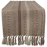 DII Braided Cotton Table Runner Perfect for Spring, Fall Holidays, Parties and Everyday Use, 15x72, Stone Taupe