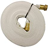 Key Fire 017-FF058-450 Polyester/Polyurethane/Brass/Plastic/Rubber 1061 Pencil Line Lay Flat Garden Hose, GHT Connection, 300 psi Maximum Pressure, 50' Length, 5/8'