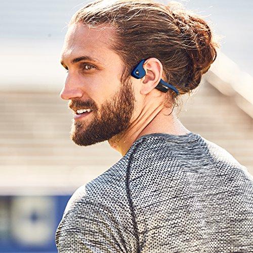 AfterShokz Trekz Air Open Ear Wireless Bone Conduction Headphones, Midnight Blue, AS650MB