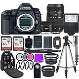 Canon EOS 5D Mark III 22.3 MP Full Frame CMOS Digital SLR Camera with Canon EF 50mm f/1.8 STM Lens + Tamron 70-300mm f/4-5.6 AF Lens + Accessory Bundle