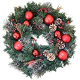 Whitehall Decorated Christmas Wreath 22 Inch - Elegant Designer Quality Transforms Your Front Door, Approved for Covered Outdoor Use, Beautiful White Gift Box
