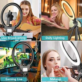 10-Ring-Light-with-50-Extendable-Tripod-Stand-Sensyne-LED-Circle-Lights-with-Phone-Holder-for-Live-StreamMakeupYouTube-VideoTikTok-Compatible-with-All-Phones