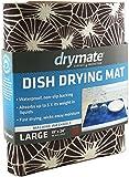 "Drymate Dish Drying Mat, Premium XL - 19"" x 24"" - Kitchen Dish Drying Pad – Absorbent/Waterproof – Machine Washable (Kahopo Grey)"